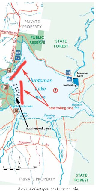 95 Huntsman Lake Perfect Kayak Water map